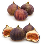 Figs on White Background Stock Images