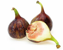 Figs in a white background Royalty Free Stock Photo