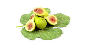 Figs on white background stock video footage