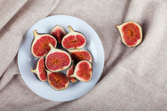 Figs on white plate Royalty Free Stock Photography
