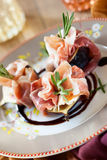 Figs With Prosciutto, Goat Cheese And Rosemary Stock Photography