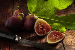 Figs on wood Stock Photos