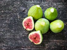Figs on wood Royalty Free Stock Photography