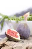 Figs on a wood plate Stock Image