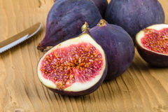 Figs on wood table Stock Photo