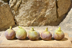 Figs on a wooden board. Stock Image