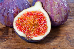 Figs on wooden board Stock Image