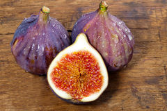 Figs on wooden board Stock Photo