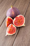Figs on wooden Stock Image