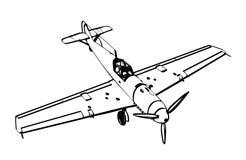Figter do trop de Messerschmitt BF109 Foto de Stock Royalty Free