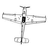 Figter do trop de Messerschmitt BF109 Fotografia de Stock