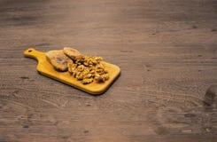 Figue et noix sèches crues Image stock