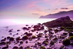 Figueinha Beach. Figueirnha Beach located at Arrábida Mountain in Setubal, Portugal Stock Photo