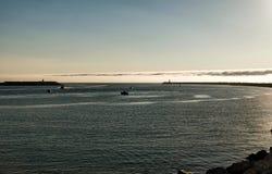Figueira da Fos, the estuary of the Mondego River. royalty free stock photography