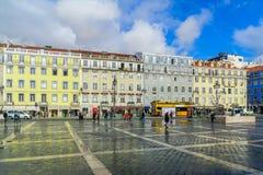 Figueira fyrkant, i Lissabon royaltyfri bild
