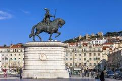 Figueira kwadrat Baixa Lisbon Zdjęcie Royalty Free