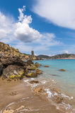 Figueral beach in Ibiza Royalty Free Stock Photo