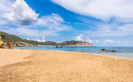 Figueral beach in Ibiza Royalty Free Stock Photos