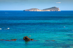 Figueral beach in Ibiza, Spain Stock Images