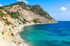 Figueral beach in Ibiza, Spain Royalty Free Stock Photo