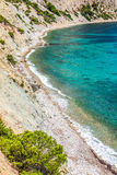 Figueral beach in Ibiza, Spain Royalty Free Stock Photography
