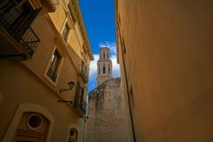 Figueres cathedral San Pere in Catalonia Royalty Free Stock Photos