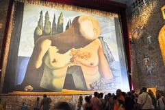 FIGUERES, ESPAGNE 6 AOÛT : Touristes chez Dali Theatre en août 6,2009 à Figueres. Dali Theatre et le musée est un musée de S Photographie stock