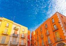 In Figueres in Spain. Beautiful buildings at figueras town in Spain Royalty Free Stock Images