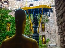 Figueres, Spain - September 15, 2015: Details from Dali`s Museum Royalty Free Stock Photos