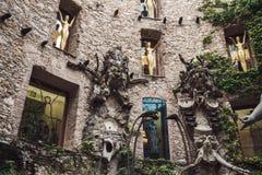 FIGUERES SPANIEN - APRIL 21 2016: Detalj av Salvador Dali Museum Royaltyfri Bild