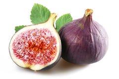Figues avec le fruit coupé Image stock