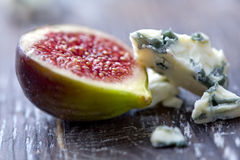 Figues et fromage Images stock