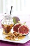 Figues et miel Photos stock
