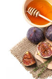 Figues et miel Photo stock