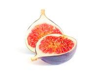 Figues fraîches d'isolement sur le blanc Image stock
