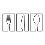 figura ícone do alimento da cutelaria do símbolo ilustração stock