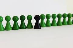 Figura única objeto principal del equipo del jefe del verde del negro Imagen de archivo