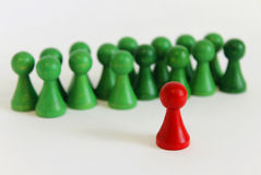 Figura única objeto principal verde rojo del equipo del jefe Foto de archivo