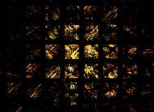 Figura abstracta composición de las líneas de intersección del color en un fondo negro, fractal, para las cubiertas, discos, pági stock de ilustración
