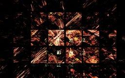 Figura abstracta composición de las líneas de intersección del color en un fondo negro, fractal, para las cubiertas, discos, pági libre illustration