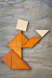 Figura abstracta té de ofrecimiento Imagenes de archivo