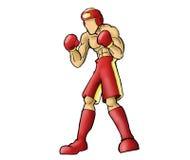 Figura acción del boxeador Fotografía de archivo libre de regalías