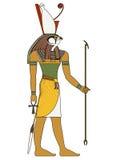 Figura aislada de dios de Egipto antiguo stock de ilustración