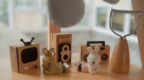 Figura animale di legno Fotografia Stock