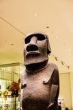 Figura antica o Moai dell'isola di pasqua Fotografia Stock Libera da Diritti