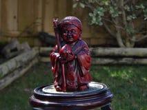 Figura antigua cinabrio de Confucio Fotos de archivo libres de regalías