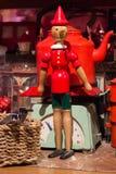 Figura antigua de Pinocchio, juguete fotografía de archivo libre de regalías