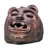 Figura antigua maya del jaguar aislada. Foto de archivo