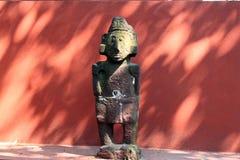 Figura asteca mexicana esqueleto, dia de dias de los muertos da morte inoperante imagens de stock