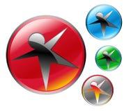 figura astratta simbolo stabilito della stella del globo dell'icona Fotografia Stock Libera da Diritti